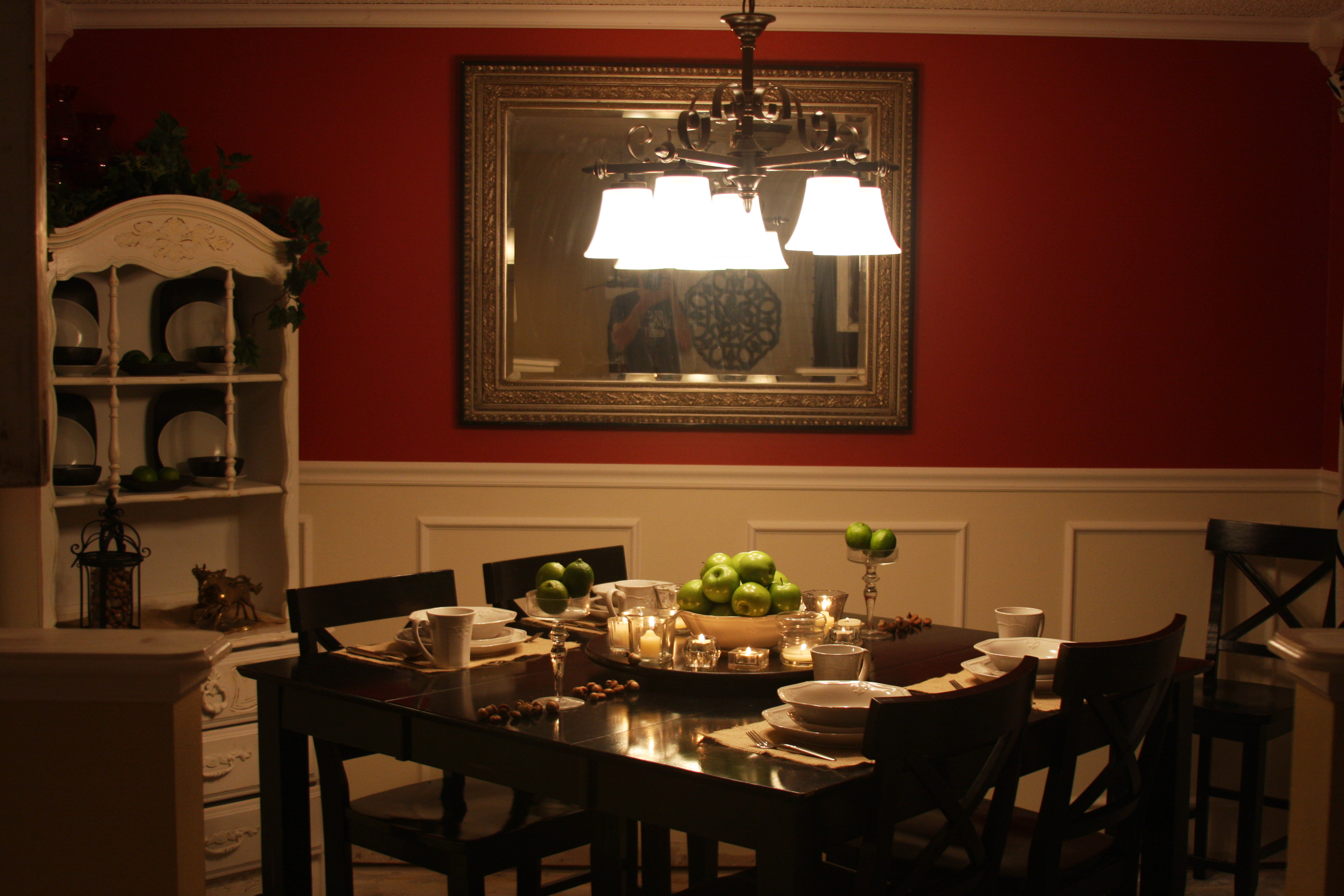 Red dining rooms red dining room with chinese screen light being dining chairs faux bois - Red dining room color ideas ...