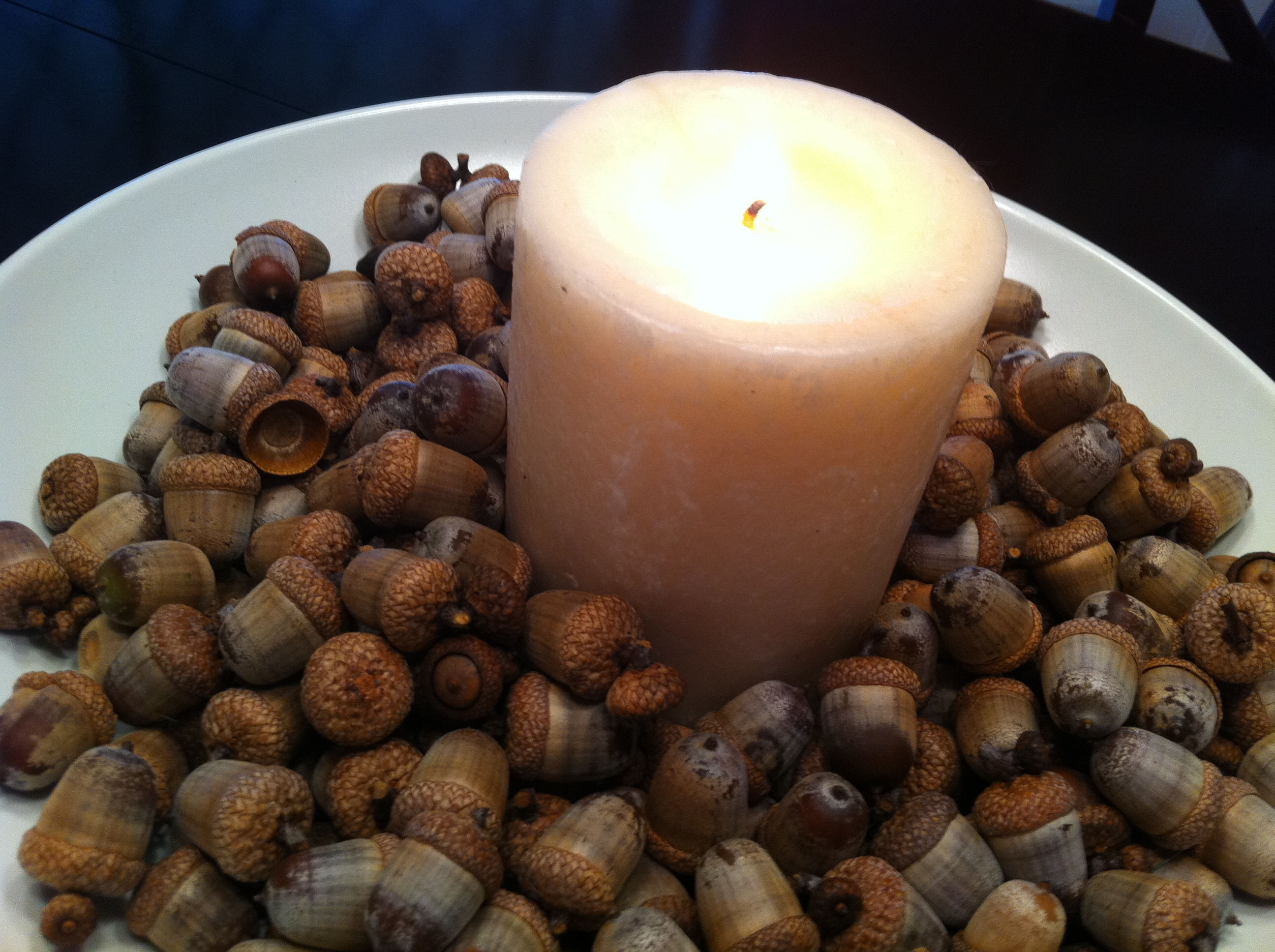 Diy acorn centerpiece